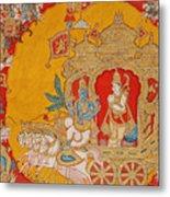 The Battle Of Kurukshetra Metal Print