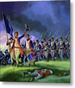 The Battle Of Saratoga, Showing A General Attack Led By Brigadier Arnold Metal Print