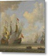 The Battle Of Scheveningen Metal Print