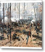 The Battle Of Shiloh Metal Print