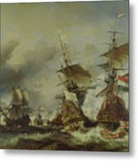 The Battle Of Texel Metal Print by Louis Eugene Gabriel Isabey