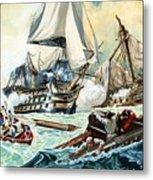 The Battle Of Trafalgar Metal Print by English School