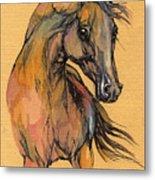 The Bay Arabian Horse 9 Metal Print