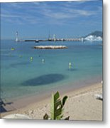 The Beach At Cannes Metal Print