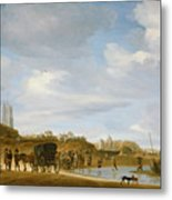 The Beach At Egmond An Zee Metal Print by Salomon van Ruysdael