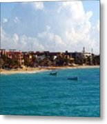 The Beach At Playa Del Carmen Metal Print