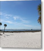 The Beach At The Isle Dauphine Metal Print