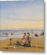 The Beach At Trouville Metal Print