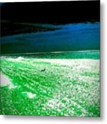 The Beach In Colors  Metal Print