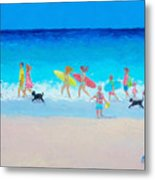 The Beach Parade Metal Print