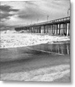 The Beach Pier Metal Print