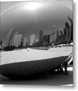 The Bean B-w Metal Print