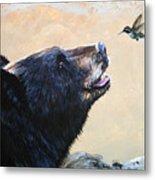 The Bear And The Hummingbird Metal Print