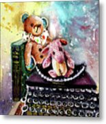 The Bear And The Sheep And The Typewriter From Whitby Metal Print