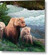 The Bears Of Katmai Metal Print