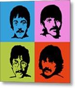 The Beatles Colors Metal Print
