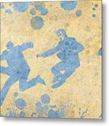 The Beatles Golden Blue Metal Print