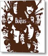The Beatles No.15 Metal Print by Caio Caldas