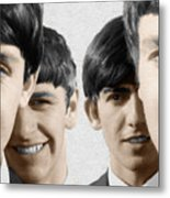 The Beatles Painting 1963 Color Metal Print