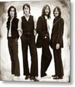 The Beatles Painting Late 1960s Early 1970s Sepia Metal Print