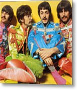 The Beatles Sgt. Pepper's Lonely Hearts Club Band Painting 1967 Color Metal Print