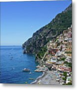 The Beautiful And Famous Amalfi Coast Metal Print