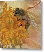 The Beautiful Bee Metal Print