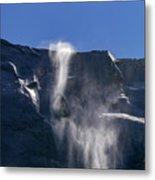The Beautiful Bridalveil Falls Of Yosemite Metal Print