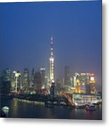 The Beautiful Bund, Shanghai, China Metal Print