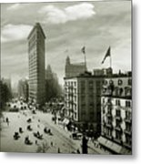 The Beautiful Flatiron Building Circa 1902 Metal Print