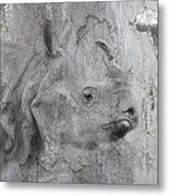 The Beautiful Rhino Metal Print