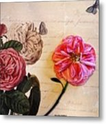 The Beauty Of A Dried Rose Metal Print