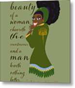The Beauty Of A Woman Metal Print