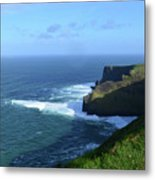 The Beauty Of Ireland's Cliff's Of Moher And Galway Bay  Metal Print