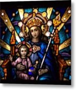 The Beauty Of Stained Glass Metal Print
