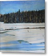 The Beaver Pond In Winter Metal Print