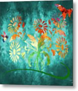 The Bee And Butterfly Metal Print