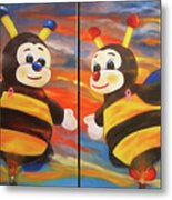 The Bees, Joey And Lilly Metal Print
