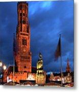 The Belfort Tower, Belfry, Bruges City, West Flanders Metal Print