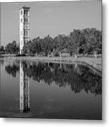 The Bell Tower Reflections B W Furman University Greenville South Carolina Art Metal Print