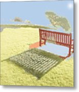 The Bench At The Edge Of The World Metal Print