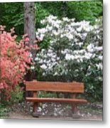 The Bench Of Peace And Pleasure Metal Print