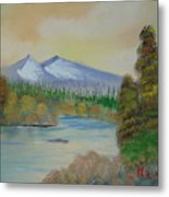 The Bend In The River Metal Print