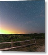 The Big Dipper Over The Lights Of Provincetown Ma Metal Print