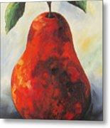 The Big Red Pear Metal Print