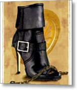 The Biker Boot Metal Print