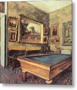 The Billiard Room At Menil-hubert Metal Print