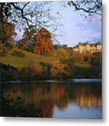 The Biltmore Estate Is Reflected Metal Print by Melissa Farlow