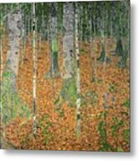 The Birch Wood Metal Print