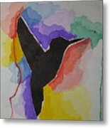The Bird And Colors  Metal Print